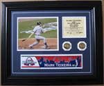 2009  All-Star Game Mark Teixeira Game-Used Locker Name Plate LH705819_SWATCH