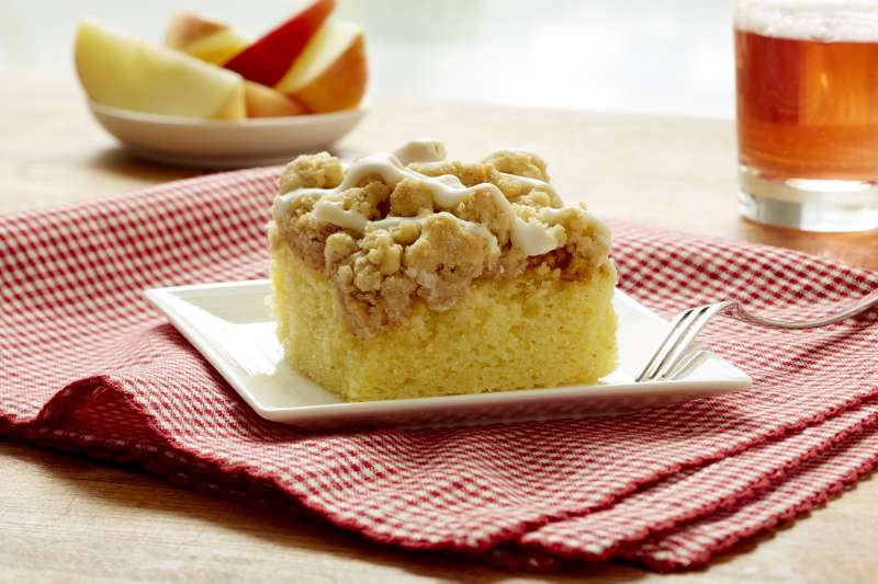 Apple Crumb Cake from Hahn's Old Fashioned Crumb Cakes