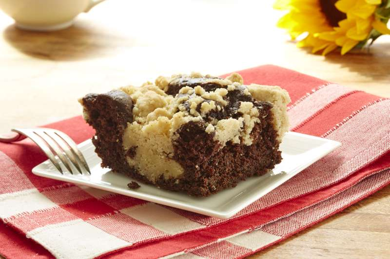 Chocolate Crumb Cake from Hahn's Old Fashioned Crumb Cakes