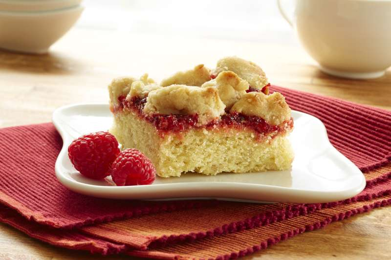 Raspberry Walnut Crumb Cake from Hahn's Old Fashioned Crumb Cakes