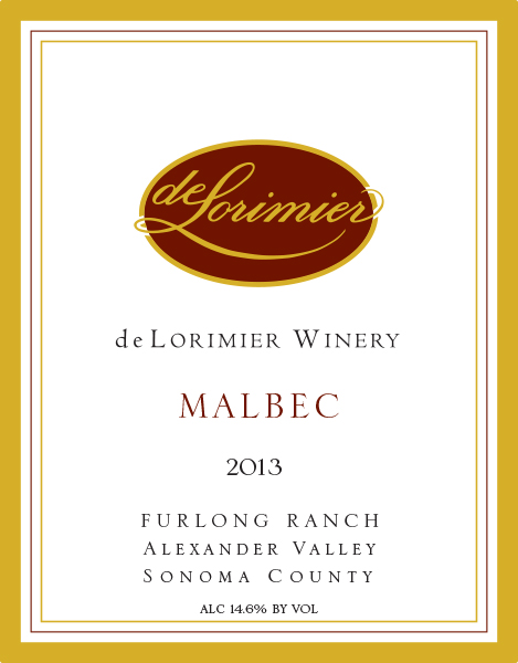 2013 Malbec, Furlong Vineyard
