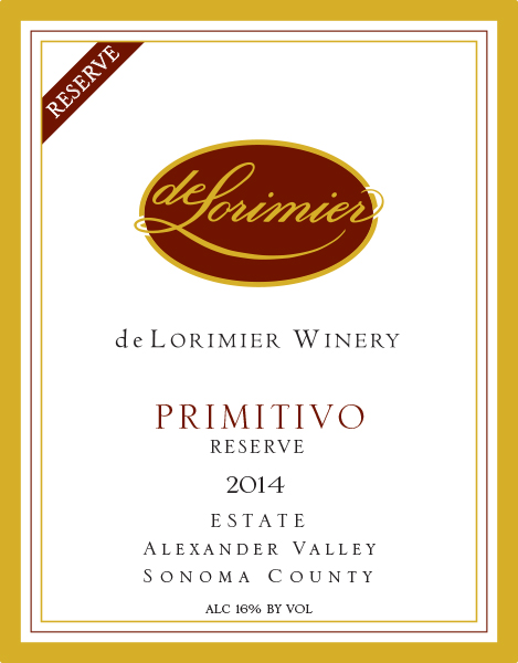 2014 Primitivo, Estate Reserve