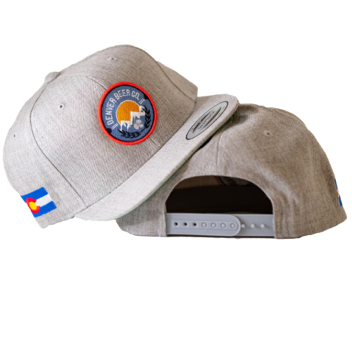 Denver Beer Co Flat Brim Hat - Gray MAIN