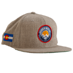 Denver Beer Co Flat Brim Hat - Gray SWATCH