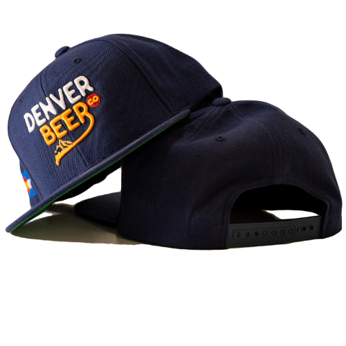 Denver Beer Co Flat Brim Hat - Navy MAIN