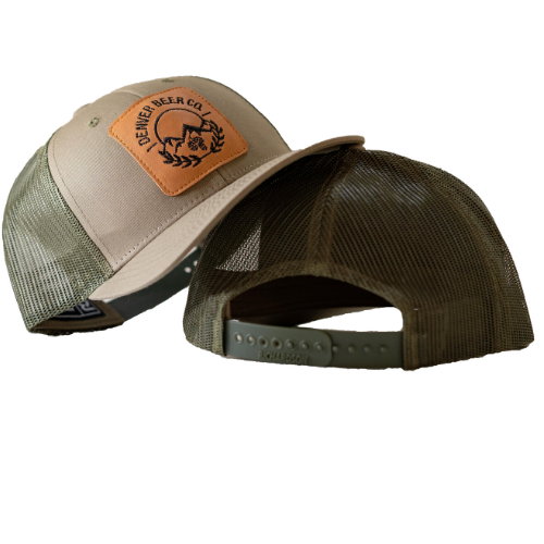 Denver Beer Co Trucker Hat - Army Green MAIN
