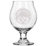 Denver Beer Co Belgian Style Stemmed Tulip Glass SWATCH