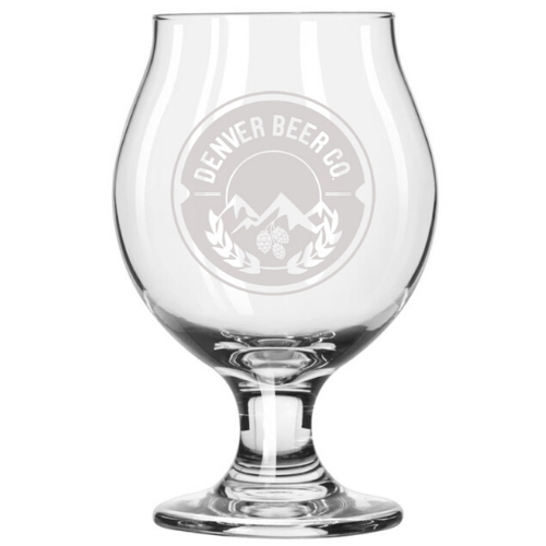 Denver Beer Co Belgian Style Stemmed Tulip Glass MAIN