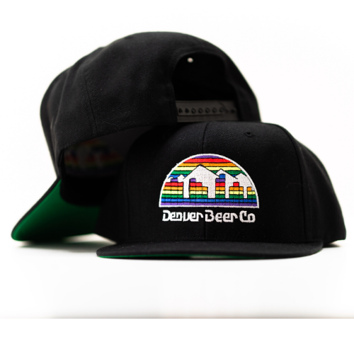 Denver Beer Co Flat Brim Hat - Black MAIN