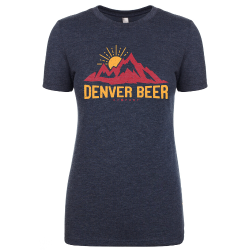 Denver Beer CO Women's Crew Neck with Mountain Sunset MAIN