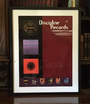 Holy Relic 2: Autographed & Framed Discipline Records Poster Proof