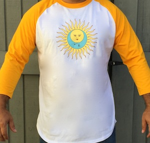 Softball Style Tee - Larks' Tongue In Aspic (Yellow)