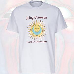 T-Shirt - Larks' Tongues in Aspic (white with album text)
