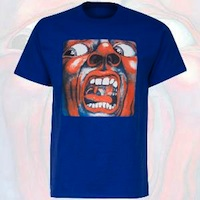 T-Shirt - In the Court of the Crimson King (Vintage Lt Blue)
