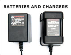 Batteries and chargers