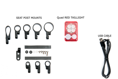 Trade in existing DiNotte LIght for Quad RED Taillight with built in battery for reduced pricing_MAIN