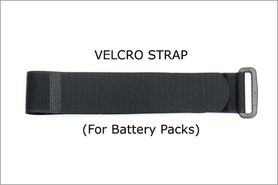 Velcro Strap for batteries and AA battery bag
