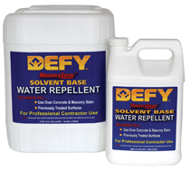 Solvent-Base Water Repellent good for: vertical-previously treated,concrete walkways, driveways, patios,