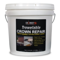 "ChimneyRx Trowelable Crown Repair for cracks 1/4"" or greater"