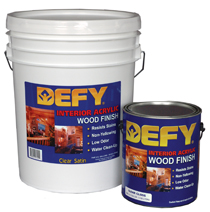 Defy Interior Acrylic Wood Finish