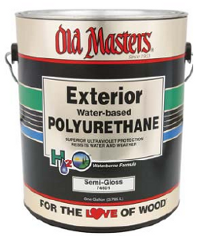 Old masters exterior water based clear polyurethane duval paint diy for Exterior polyurethane for decks