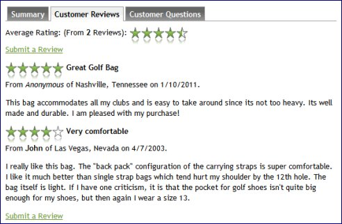 shopping cart review