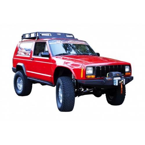 Jeep Cherokee Front Bumper W Winch Mount Black Gator