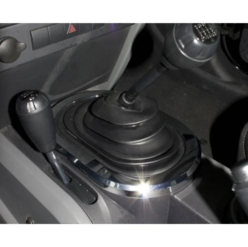 jeep wrangler shifter bezel trim manual transmission chrome 2007 2010 rh 4x4 fatbobsgarage com 2010 jeep wrangler manual transmission problems 2010 jeep wrangler manual shift extension