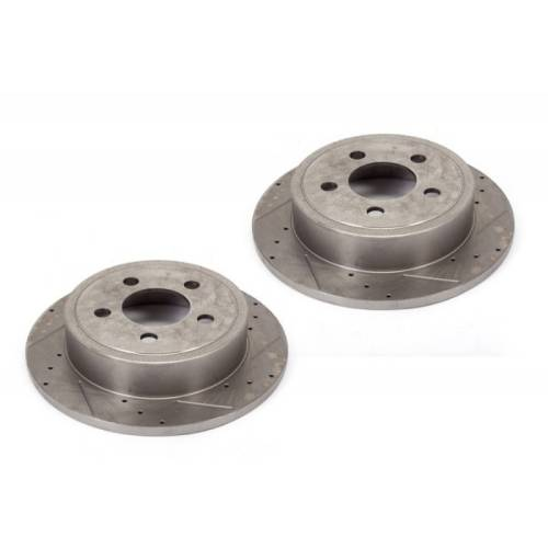 For Jeep Wrangler 2000 2006 Replace 2a34 Remanufactured: Disc Brake Rotors (2) Drilled And Slotted 2000-2006 TJ