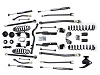 "Teraflex JK 2 Door 3"" Elite LCG Long FlexArm Lift Kit w/ 9550 Shocks - Right Hand Drive"