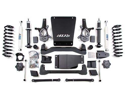 "Fat Bob's Garage, BDS Part #178h, Chevy/GMC Avalanche/Suburban/Tahoe/Yukon 1500 6"" Suspension Lift Kit 4WD 2007-Present"