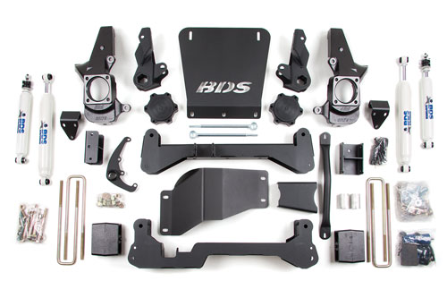 "Fat Bob's Garage, BDS Part #189h, Suspension Chevy/GMC 7"" Suspension Lift Kit 4WD 2001-2010"