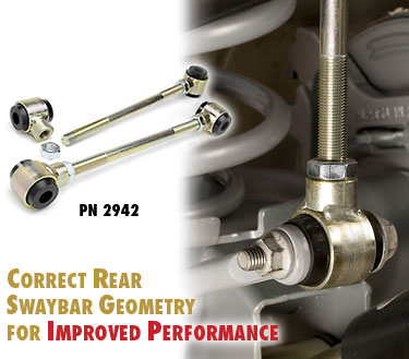 "Fat Bob's Garage, Part #2942, Jeep TJ 1997-2006 Adjustable Rear Sway Bar End Links 2.5""-6"" Lift"