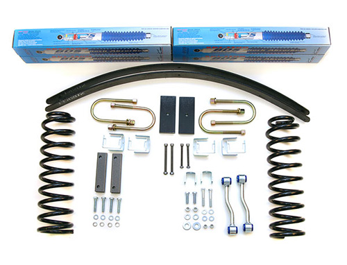 "Fat Bob's Garage, BDS Part #430H, Jeep Cherokee XJ 2WD/4WD 3"" Front 2.5"" Rear Lift Kit 1984-2001"