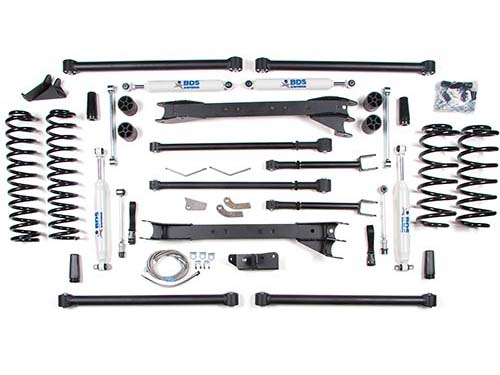 "Fat Bob's Garage, BDS Part #467H, Jeep Wrangler TJ 6.5"" Front 6"" Rear Long Arm Lift Kit 1997-2006"