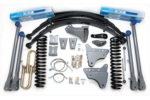 "Fat Bob's Garage, BDS Part #530H, Ford F250/F350 Super Duty 8"" Front 8"" Rear Suspension System 4WD 2005-2007"