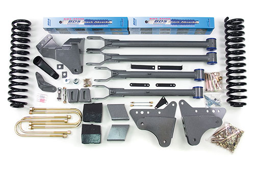 "Fat Bob's Garage, BDS Part #548H, Ford F250/F350 Super Duty  4"" Front 4"" Rear 4WD 2008-2010"