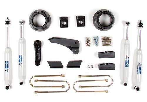 "Fat Bob's Garage, BDS Part #604H, Dodge Ram 1500 Mega Cab/2500/3500 3"" Front 2"" Rear Lift Kit 4WD 2009-2012"