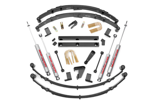 "Fat Bob's Garage, Rough Country Part #620N2, Jeep YJ Wrangler 4"" Suspension Lift Kit 1987-1995"