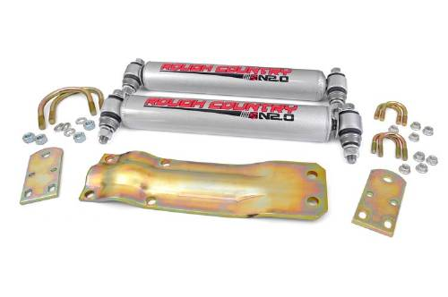Fat Bob's Garage, Rough Country Part #87356.2, Ford F250 Dual Steering Stabilizer 1959-1979
