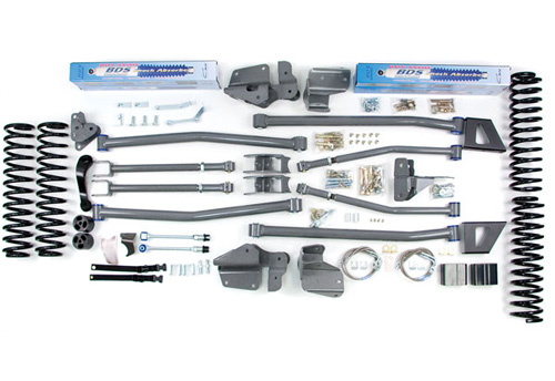 "Fat Bob's Garage, BDS Part #1421H, Jeep Wrangler JK 2 Door 5.5"" Front 5"" Rear Lift Kit 2007-2011"