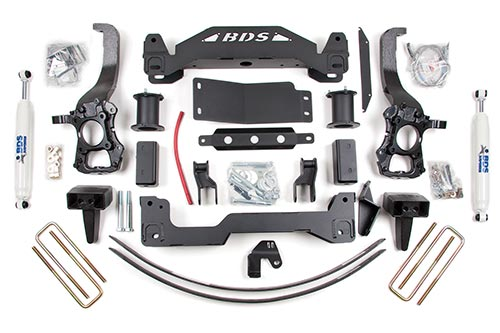 "Fat Bob's Garage, BDS Part #576H, Ford F150 4"" 4WD Suspension Lift Kit"