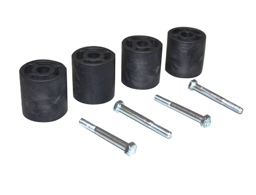 Fat Bob's Garage, Part # BSETJFR, Jeep Wrangler TJ Front and Rear Bump Stop Extender Kit 1997-2006