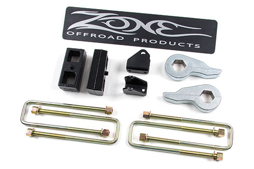 "Fat Bob's Garage, Zone Offroad Part #C1212, Chevrolet/GMC Silverado/Sierra 2500HD 2"" Lift Kit 4WD 2001-2010"