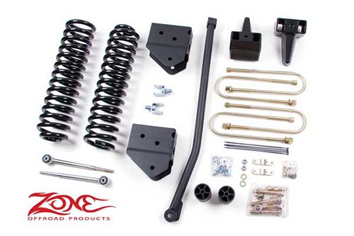 "Fat Bob's Garage, Zone Offroad Part #F5, Ford F250/F350 Super Duty 4"" Suspension 4WD 2005-2007"