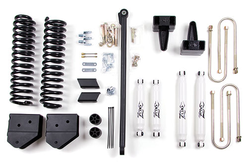 "Fat Bob's Garage, Zone Offroad Part #F6, Ford F250/F350 Super Duty 4"" Suspension System 2008-2010"
