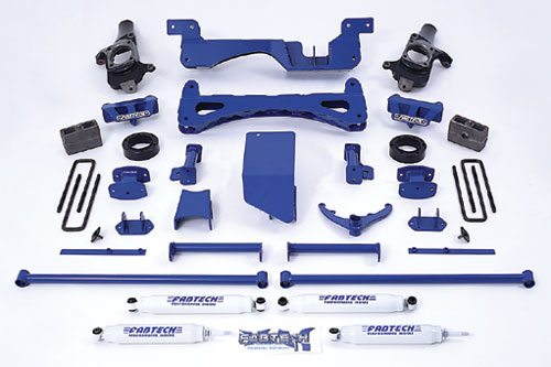 "Fat Bob's Garage, Fabtech Part #K1016, Chevrolet Suburban/Avalanche 2500 Classic 6"" Performance Lift Kit 4WD 2001-2007"