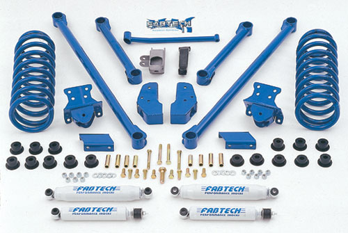 "Fat Bob's Garage, Fabtech Part #FABKIT327, Dodge Ram 2500 3500 4WD 2003-2008 (Diesel) 4.5"" Performance System"