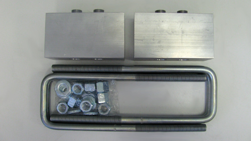 "Ford F150 1"" Rear Aluminum Blocks & U-Bolts 4WD 2004-2013"
