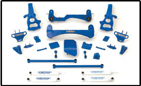 "Fat Bob's Garage, Fabtech Part #K3000, Dodge Ram 1500 4WD 2002-2005  6"" Performance System"